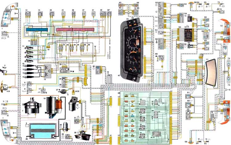 схема ВАЗ 21102
