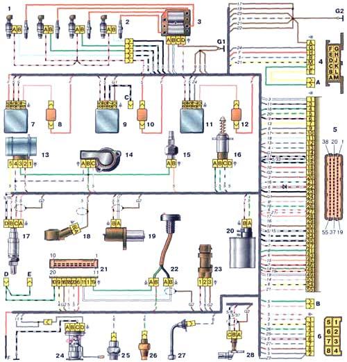 ЛАДА 2110 (ВАЗ 2110) Схема