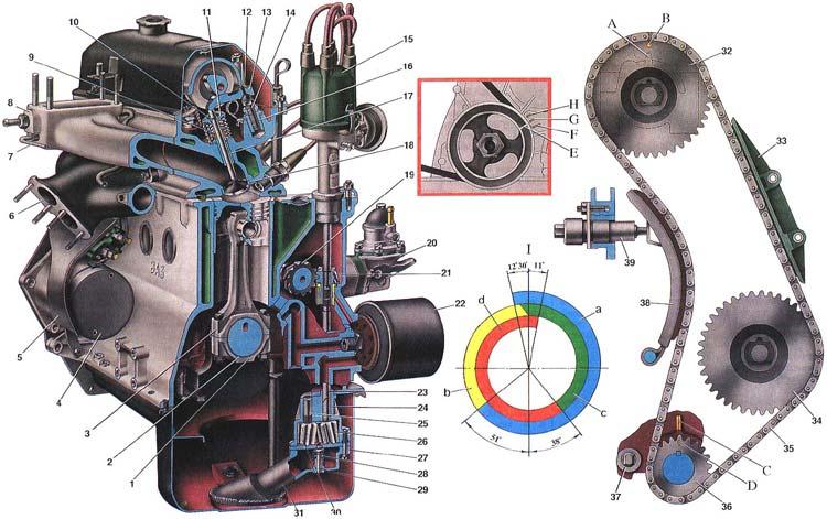 21214 двигатель схема